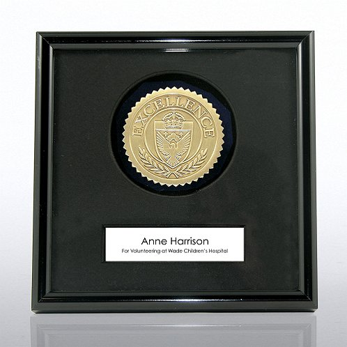 Excellence Results Gold Framed Medallion