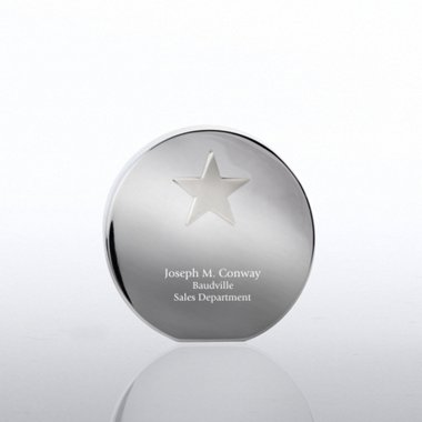 Desktop Paperweight Trophy - Star