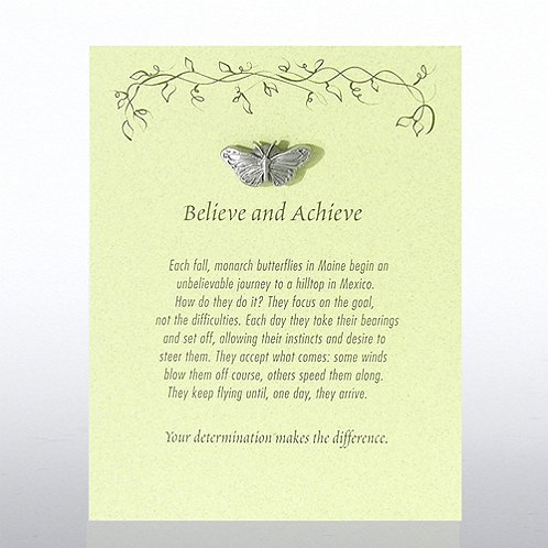 Monarch Butterfly: Believe & Achieve Character Pin
