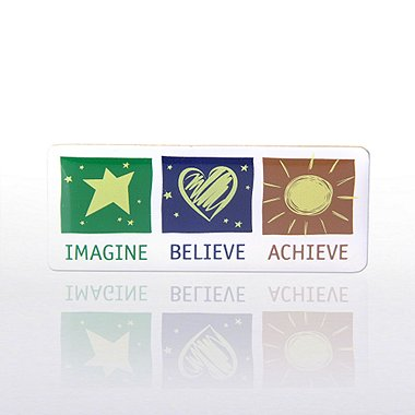 Lapel Pin - Imagine Believe Achieve - Multi-Color