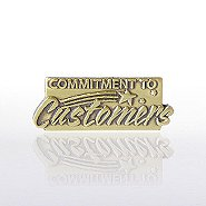 Lapel Pin - Commitment to Customers
