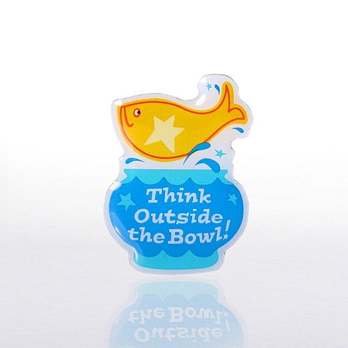 Think Outside the Bowl! - Multi-Color Lapel Pin