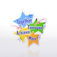 Lapel Pin - Together Everyone Achieves More - Multi-Color