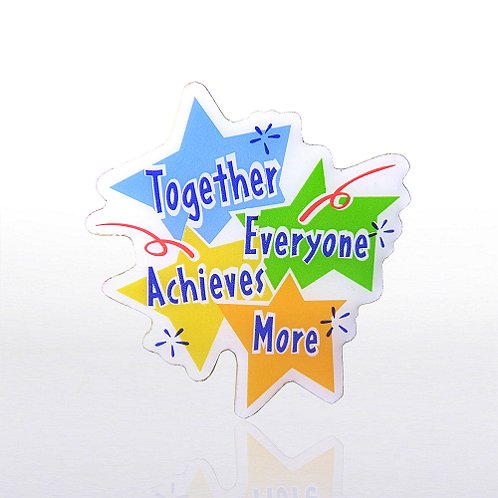 Together Everyone Achieves More - Multi-Color Lapel Pin