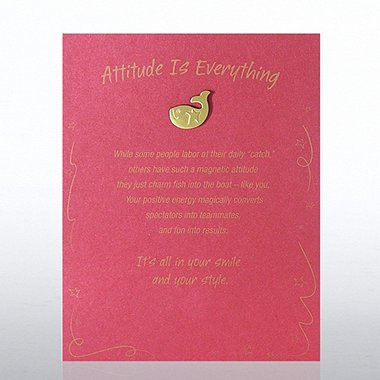 Character Pin - Fish: Attitude is Everything