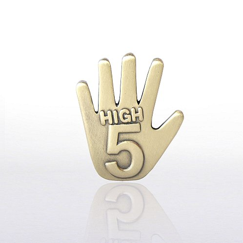 High 5 - Gold Lapel Pin