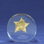 Embedded Medallion Trophy - Shining Star