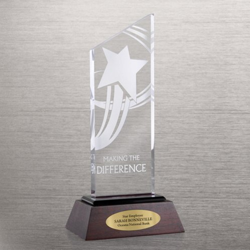 Making the Difference Apex Award Trophy