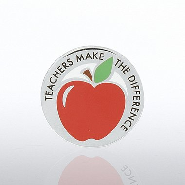 Lapel Pin - Apple - Teachers Make the Difference