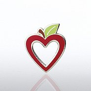 Lapel Pin - Apple Heart