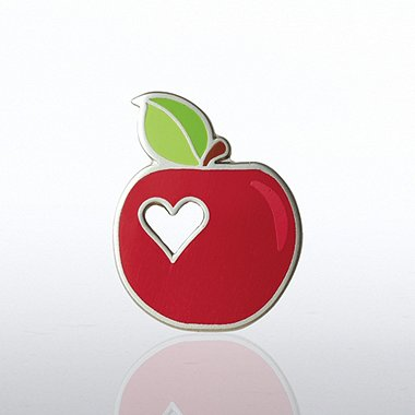 Lapel Pin - Apple with Heart