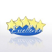 Lapel Pin - Five-Star Excellence - Multi Color