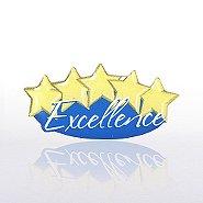 Lapel Pin - Five-Star Excellence - Multi Color