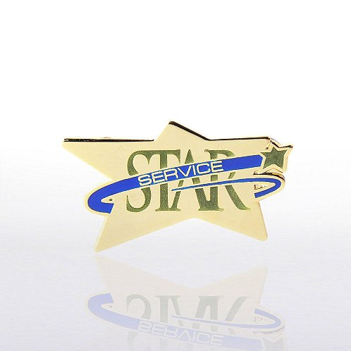 Star Service - Multi Color Lapel Pin