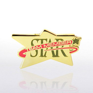 Lapel Pin - Star Team Member - Multi Color