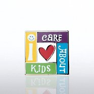 Lapel Pin - I Care About Kids