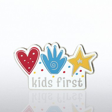 Lapel Pin - Kids First Hands