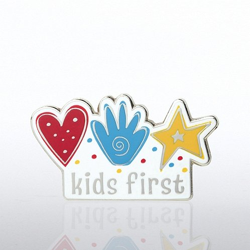Kids First Hands Lapel Pin