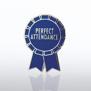 Lapel Pin - Perfect Attendance Ribbon