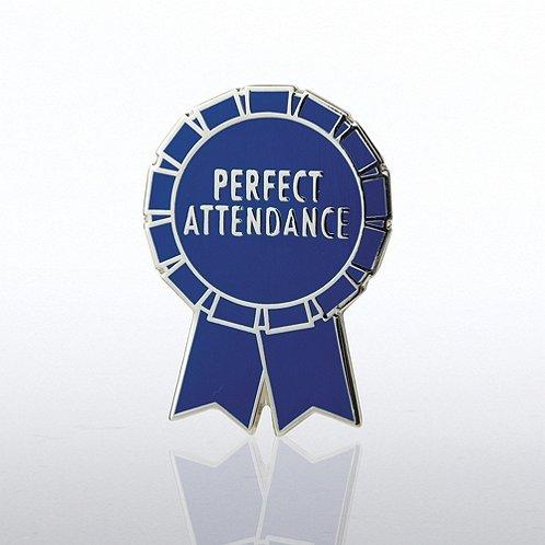 Perfect Attendance Ribbon Lapel Pin