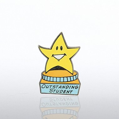 Lapel Pin - Outstanding Student - Star on Pedestal