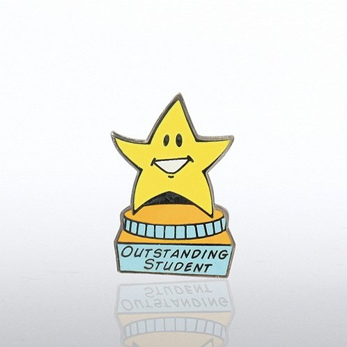 Outstanding Student - Star on Pedestal Lapel Pin