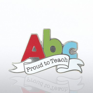 Lapel Pin - Proud to Teach - A,B,C