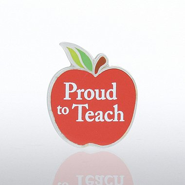 Lapel Pin - Proud to Teach - Apple