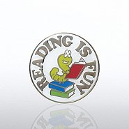 Lapel Pin - Reading is Fun