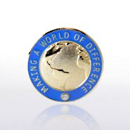 Lapel Pin - Making a World of Difference with Gem