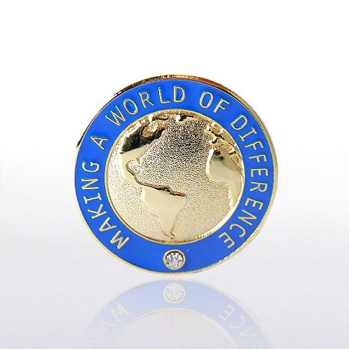 Making a World of Difference with Gem Lapel Pin