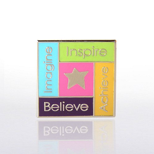 Imagine, Inspire, Achieve, Believe Star Lapel Pin