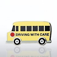 Lapel Pin - School Bus - Driving with Care
