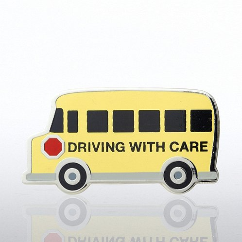 School Bus - Driving with Care Lapel Pin