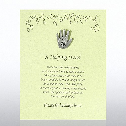 A Helping Hand - Green Card Character Pin