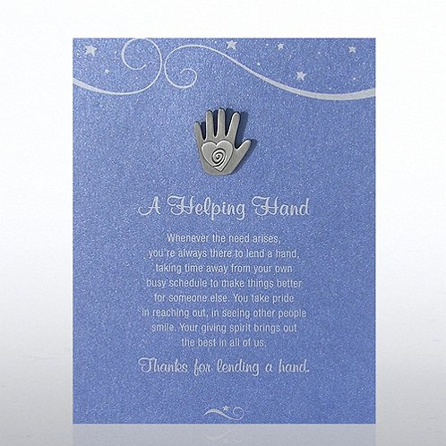 A Helping Hand - Blue Card Character Pin