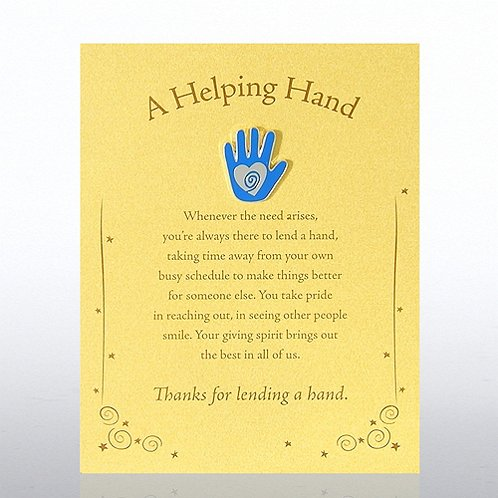A Helping Hand - Gold Card Character Pin