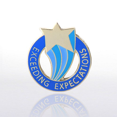 Exceeding Expectations Lapel Pin