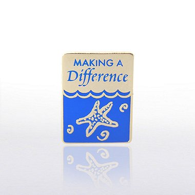 Lapel Pin - Water Starfish: Making a Difference
