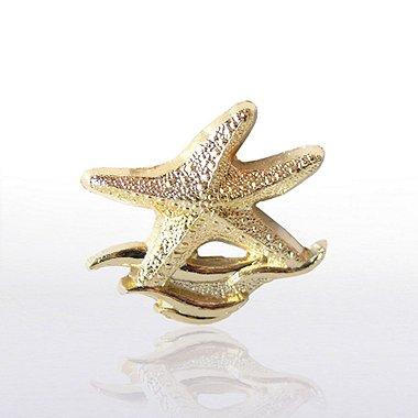 Lapel Pin - Starfish Waves