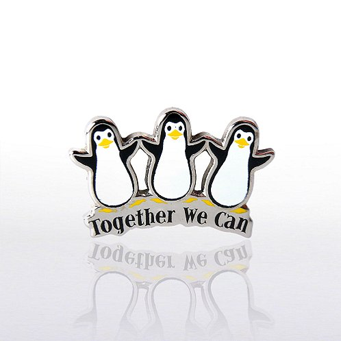Penguins Together We Can Lapel Pin