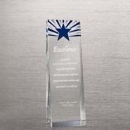 Etched Crystalline Tower Trophy - Starburst