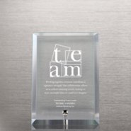 Glass Award Character Plaque - Clear