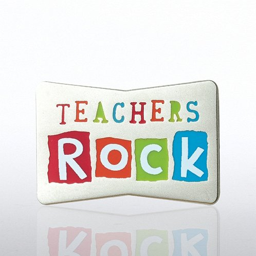 Teachers Rock Lapel Pin