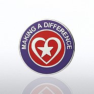 Lapel Pin - Heart with Star - Making a Difference