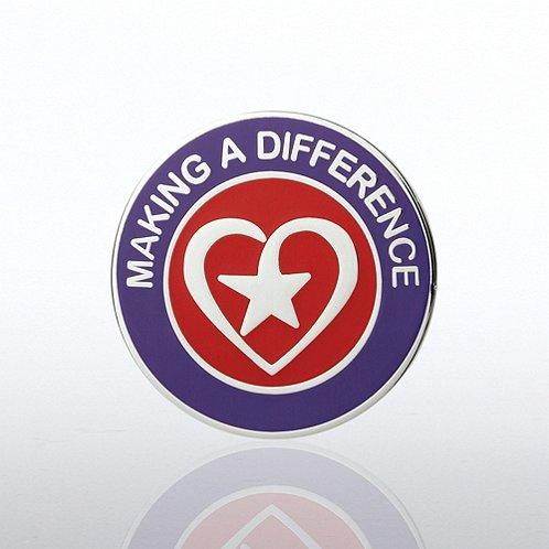 Heart with Star - Making a Difference Lapel Pin