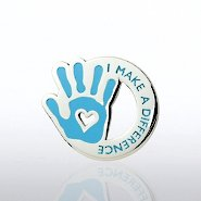 Lapel Pin - I Make the Difference - Heart in Hand