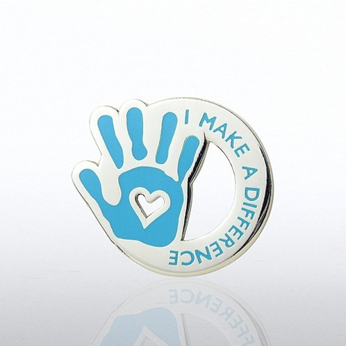 I Make the Difference - Heart in Hand Lapel Pin