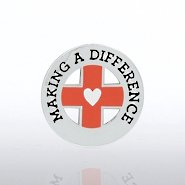 Lapel Pin - Making a Difference - Medical Cross