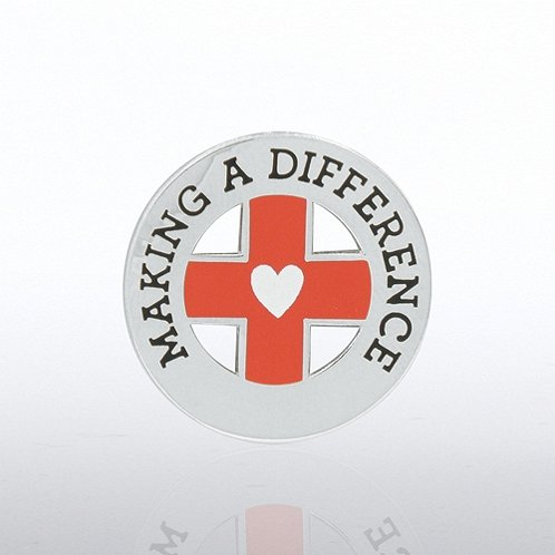 Making a Difference - Medical Cross Lapel Pin
